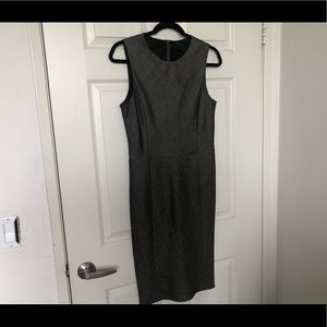 Theory Gray Charcoal Lined Dress Sz 6 Career piece